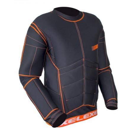 EXEL S100 brankárska vesta black/orange SR
