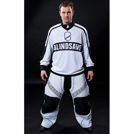 BlindSave brankárske nohavice White/Black