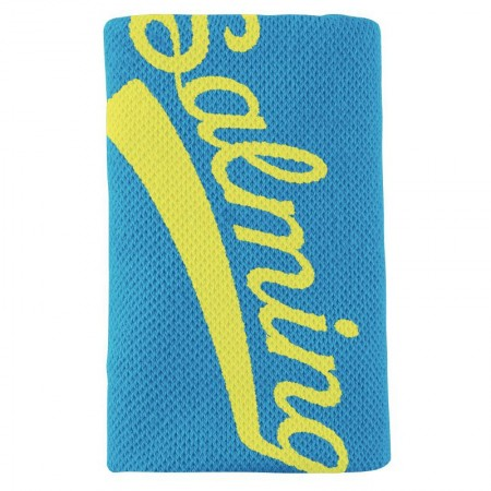 SALMING Potítko Wristband Long Cyan Blue/Safety Yellow