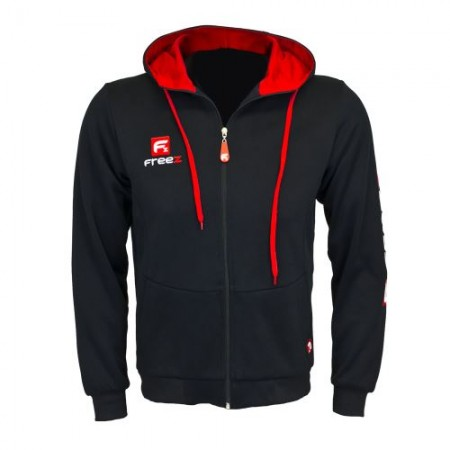 FREEZ VICTORY ZIP MIKINA HOOD black/red senior