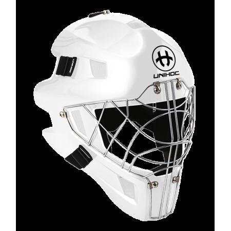 Unihoc brankárska maska OPTIMA 66 all white