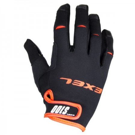 EXEL S100 brankárske rukavice black/orange